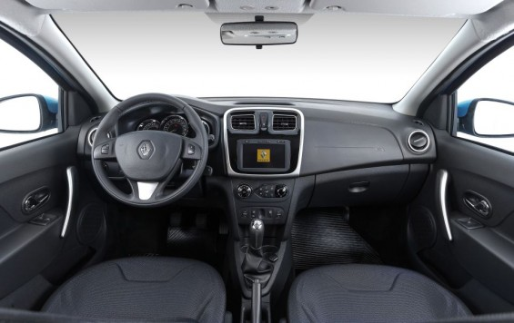 Interior do Novo Renault Sandero Dynamique